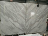 volakas white book match marble panels